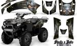 Kawasaki Brute Force 750 CreatorX Graphics Kit Skulls n Bolts Metal Yellow Black 150x90 - Kawasaki Brute Force 750i-750 2004-2011 Graphics