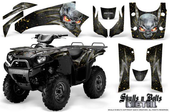 Kawasaki Brute Force 750 CreatorX Graphics Kit Skulls n Bolts Metal Yellow Black 570x376 - Kawasaki Brute Force 750i-750 2004-2011 Graphics