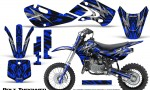 Kawasaki KLX110 KX65 Graphics Kit Bolt Thrower Blue 150x90 - Kawasaki KX65 2002-2017 Graphics