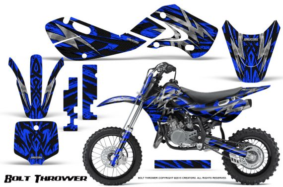 Kawasaki KLX110 KX65 Graphics Kit Bolt Thrower Blue 570x376 - Kawasaki KX65 2002-2017 Graphics