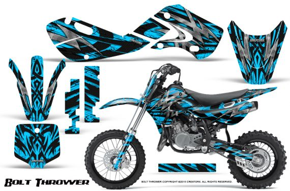 Kawasaki KLX110 KX65 Graphics Kit Bolt Thrower BlueIce 570x376 - Kawasaki KX65 2002-2017 Graphics