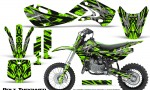 Kawasaki KLX110 KX65 Graphics Kit Bolt Thrower Green 150x90 - Kawasaki KX65 2002-2017 Graphics