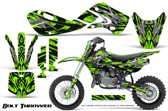 Kawasaki KLX110 KX65 Graphics Kit Bolt Thrower Green 570x376 - Kawasaki KX65 2002-2017 Graphics