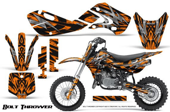 Kawasaki KLX110 KX65 Graphics Kit Bolt Thrower Orange 570x376 - Kawasaki KX65 2002-2017 Graphics