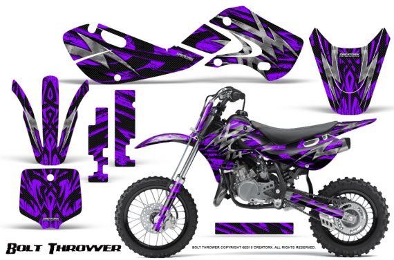 Kawasaki KLX110 KX65 Graphics Kit Bolt Thrower Purple 570x376 - Kawasaki KX65 2002-2017 Graphics