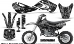 Kawasaki KLX110 KX65 Graphics Kit Bolt Thrower Silver 150x90 - Kawasaki KX65 2002-2017 Graphics
