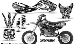 Kawasaki KLX110 KX65 Graphics Kit Bolt Thrower White 150x90 - Kawasaki KX65 2002-2017 Graphics