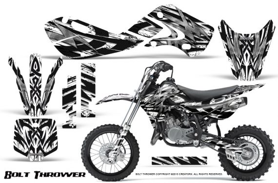 Kawasaki KLX110 KX65 Graphics Kit Bolt Thrower White 570x376 - Kawasaki KX65 2002-2017 Graphics