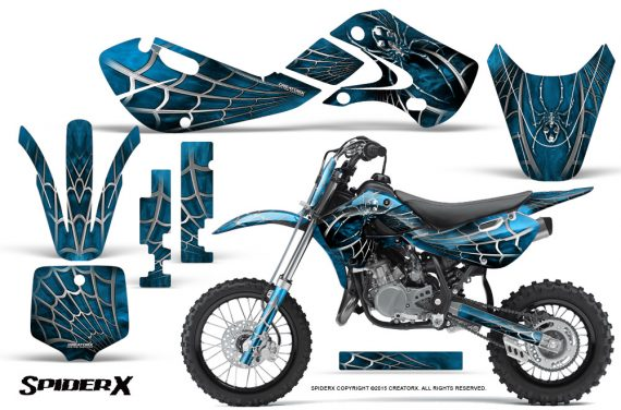 Kawasaki KLX110 KX65 Graphics Kit SpiderX BlueIce 570x376 - Kawasaki KX65 2002-2017 Graphics