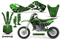 Kawasaki_KLX110_KX65_Graphics_Kit_SpiderX_Green