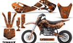 Kawasaki KLX110 KX65 Graphics Kit SpiderX Orange 150x90 - Kawasaki KX65 2002-2017 Graphics
