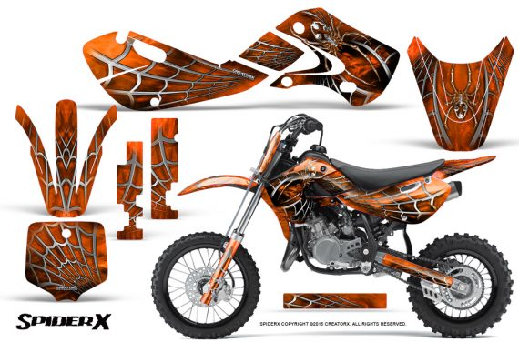 Kawasaki KLX110 KX65 Graphics Kit SpiderX Orange 570x376 - Kawasaki KX65 2002-2017 Graphics