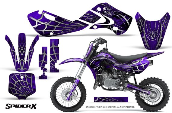Kawasaki KLX110 KX65 Graphics Kit SpiderX Purple 570x376 - Kawasaki KX65 2002-2017 Graphics