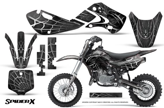 Kawasaki KLX110 KX65 Graphics Kit SpiderX Silver 570x376 - Kawasaki KX65 2002-2017 Graphics