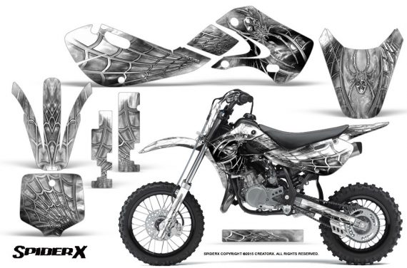 Kawasaki KLX110 KX65 Graphics Kit SpiderX White 570x376 - Kawasaki KX65 2002-2017 Graphics