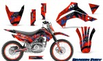 Kawasaki KLX140 08 14 Graphics Kit Dragon Fury Blue Red NP Rims 150x90 - Kawasaki KLX140 2008-2017 Graphics