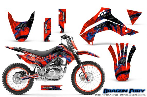 Kawasaki KLX140 08 14 Graphics Kit Dragon Fury Blue Red NP Rims 570x376 - Kawasaki KLX140 2008-2017 Graphics