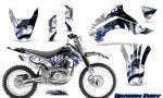 Kawasaki KLX140 08 14 Graphics Kit Dragon Fury Blue White NP Rims 150x90 - Kawasaki KLX140 2008-2017 Graphics