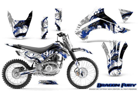 Kawasaki KLX140 08 14 Graphics Kit Dragon Fury Blue White NP Rims 570x376 - Kawasaki KLX140 2008-2017 Graphics