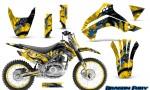Kawasaki KLX140 08 14 Graphics Kit Dragon Fury Blue Yellow NP Rims 150x90 - Kawasaki KLX140 2008-2017 Graphics