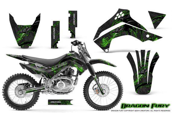 Kawasaki KLX140 08 14 Graphics Kit Dragon Fury Green Black NP Rims 570x376 - Kawasaki KLX140 2008-2017 Graphics