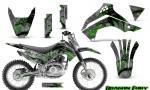 Kawasaki KLX140 08 14 Graphics Kit Dragon Fury Green Silver NP Rims 150x90 - Kawasaki KLX140 2008-2017 Graphics