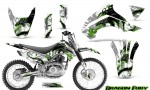 Kawasaki KLX140 08 14 Graphics Kit Dragon Fury Green White NP Rims 150x90 - Kawasaki KLX140 2008-2017 Graphics