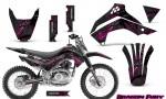 Kawasaki KLX140 08 14 Graphics Kit Dragon Fury Pink Black NP Rims 150x90 - Kawasaki KLX140 2008-2017 Graphics
