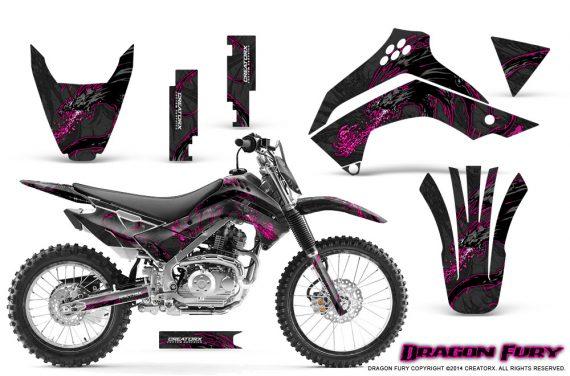 Kawasaki KLX140 08 14 Graphics Kit Dragon Fury Pink Black NP Rims 570x376 - Kawasaki KLX140 2008-2017 Graphics