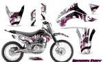 Kawasaki KLX140 08 14 Graphics Kit Dragon Fury Pink White NP Rims 150x90 - Kawasaki KLX140 2008-2017 Graphics