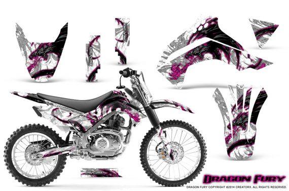 Kawasaki KLX140 08 14 Graphics Kit Dragon Fury Pink White NP Rims 570x376 - Kawasaki KLX140 2008-2017 Graphics