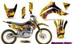 Kawasaki KLX140 08 14 Graphics Kit Dragon Fury Pink Yellow NP Rims 150x90 - Kawasaki KLX140 2008-2017 Graphics