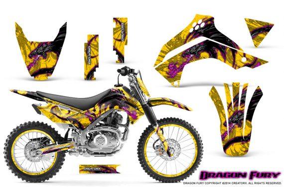 Kawasaki KLX140 08 14 Graphics Kit Dragon Fury Pink Yellow NP Rims 570x376 - Kawasaki KLX140 2008-2017 Graphics