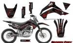 Kawasaki KLX140 08 14 Graphics Kit Dragon Fury Red Black NP Rims 150x90 - Kawasaki KLX140 2008-2017 Graphics