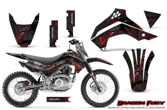 Kawasaki KLX140 08 14 Graphics Kit Dragon Fury Red Black NP Rims 570x376 - Kawasaki KLX140 2008-2017 Graphics