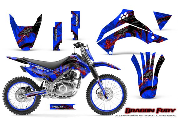 Kawasaki KLX140 08 14 Graphics Kit Dragon Fury Red Blue NP Rims 570x376 - Kawasaki KLX140 2008-2017 Graphics