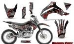 Kawasaki KLX140 08 14 Graphics Kit Dragon Fury Red Silver NP Rims 150x90 - Kawasaki KLX140 2008-2017 Graphics