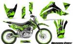 Kawasaki KLX140 08 14 Graphics Kit Dragon Fury Silver Green NP Rims 150x90 - Kawasaki KLX140 2008-2017 Graphics