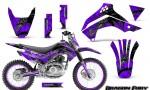 Kawasaki KLX140 08 14 Graphics Kit Dragon Fury Silver Purple NP Rims 150x90 - Kawasaki KLX140 2008-2017 Graphics