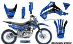Kawasaki KLX140 08 14 Graphics Kit Dragon Fury White Blue NP Rims 150x90 - Kawasaki KLX140 2008-2017 Graphics