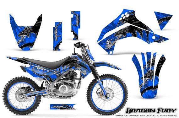 Kawasaki KLX140 08 14 Graphics Kit Dragon Fury White Blue NP Rims 570x376 - Kawasaki KLX140 2008-2017 Graphics