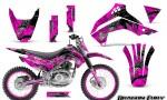 Kawasaki KLX140 08 14 Graphics Kit Dragon Fury White Pink NP Rims 150x90 - Kawasaki KLX140 2008-2017 Graphics