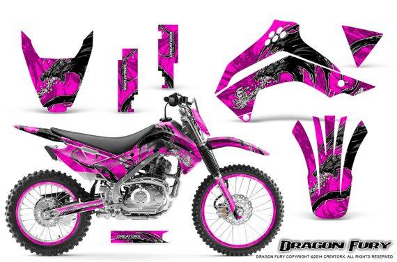Kawasaki KLX140 08 14 Graphics Kit Dragon Fury White Pink NP Rims 570x376 - Kawasaki KLX140 2008-2017 Graphics