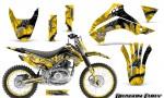 Kawasaki KLX140 08 14 Graphics Kit Dragon Fury White Yellow NP Rims 150x90 - Kawasaki KLX140 2008-2017 Graphics