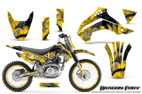Kawasaki KLX140 08 14 Graphics Kit Dragon Fury White Yellow NP Rims 570x376 - Kawasaki KLX140 2008-2017 Graphics