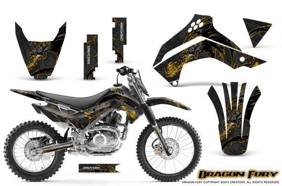 Kawasaki KLX140 08 14 Graphics Kit Dragon Fury Yellow Black NP Rims 570x376 - Kawasaki KLX140 2008-2017 Graphics