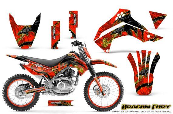 Kawasaki KLX140 08 14 Graphics Kit Dragon Fury Yellow Red NP Rims 570x376 - Kawasaki KLX140 2008-2017 Graphics