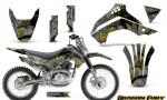 Kawasaki KLX140 08 14 Graphics Kit Dragon Fury Yellow Silver NP Rims 150x90 - Kawasaki KLX140 2008-2017 Graphics