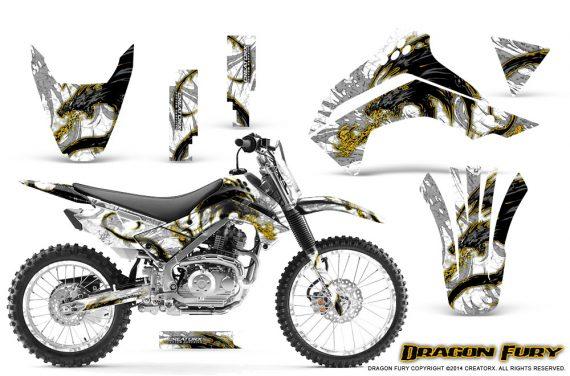 Kawasaki KLX140 08 14 Graphics Kit Dragon Fury Yellow White NP Rims 570x376 - Kawasaki KLX140 2008-2017 Graphics