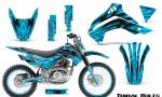 Kawasaki KLX140 08 16 Graphics Kit Tribal Bolts BlueIce NP Rims 150x90 - Kawasaki KLX140 2008-2017 Graphics